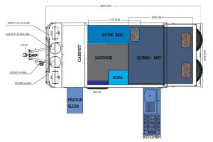 XT10 Caravan Floorplan