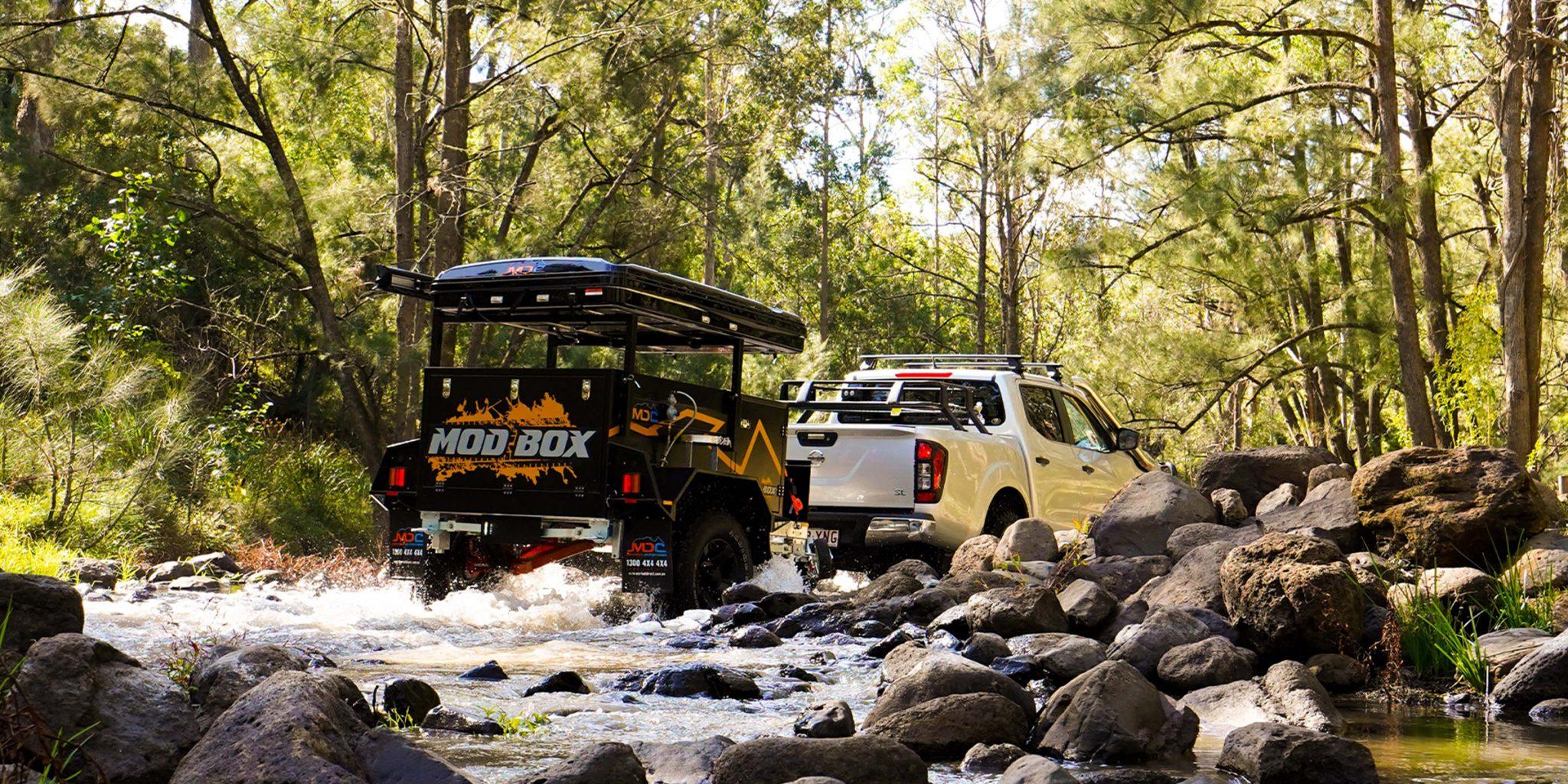 Modbox offroad compact camper trailer full width