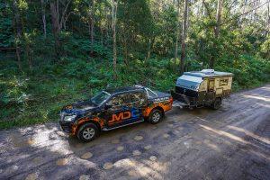 MDC XT11 Offroad Caravan river crossing