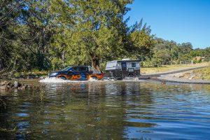 MDC XT11E Offroad Caravan river crossing