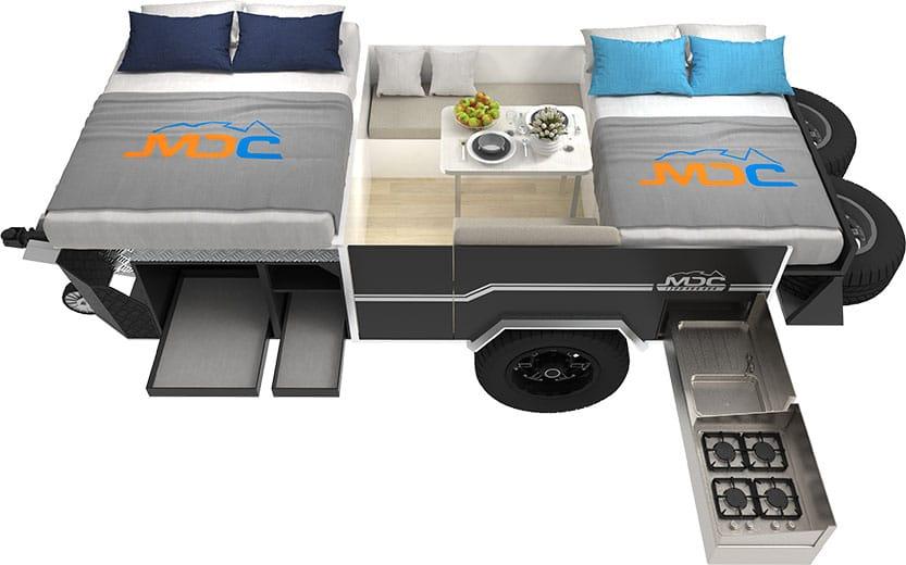 MDC Cruizer Slide Offroad Camper Trailer 3D Floorplan
