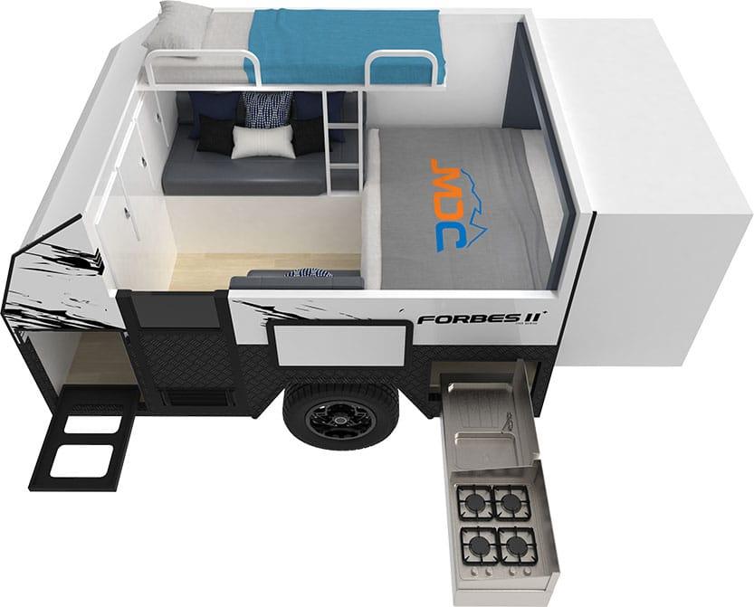 MDC Forbes 11Plus Offroad Caravan 3D Floorplan
