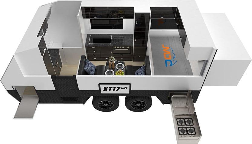MDC XT17HRT Offroad Caravan 3D Floorplan