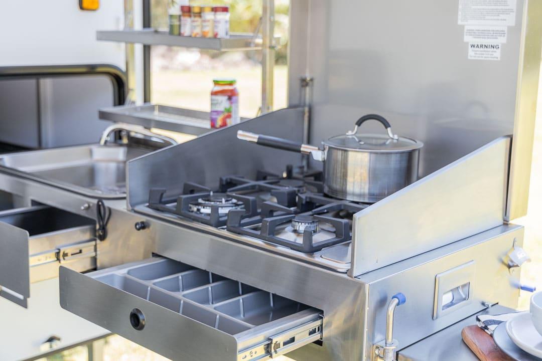 MDC XT12E Offroad Caravan Exterior Retractable Kitchen