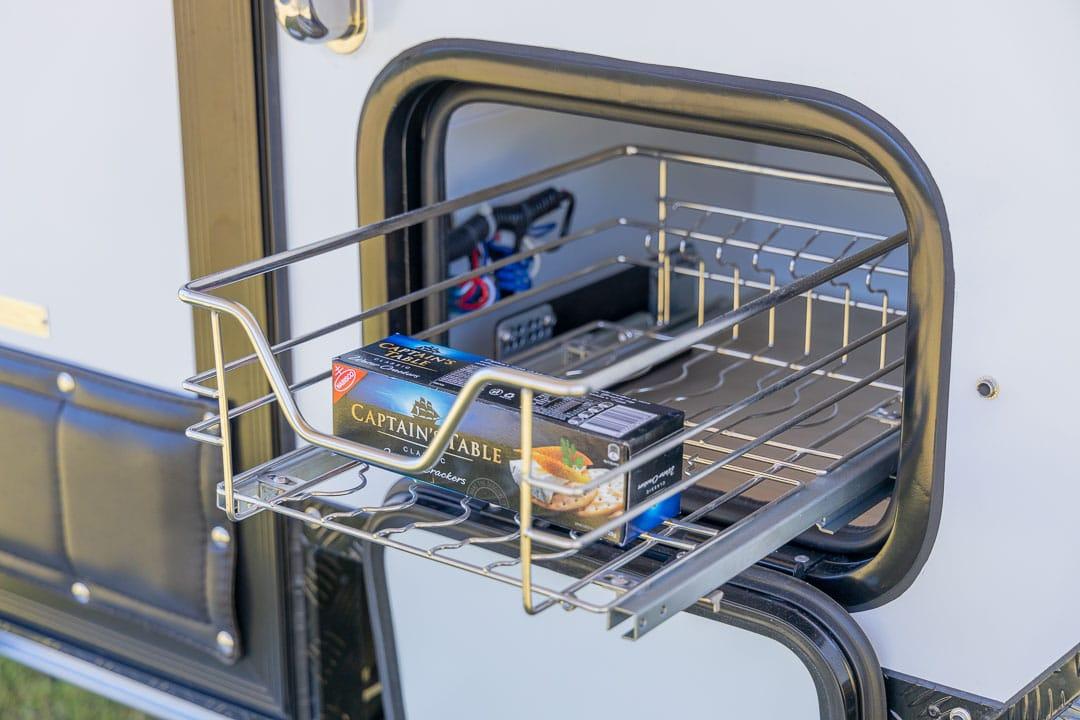MDC XT12E Offroad Caravan Exterior Retractable Storage Drawer