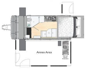 AUSRV XL15 Off Road Caravan 2D Floorplan