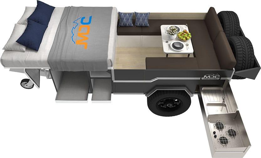 MDC Explorer Forward Fold Camper Trailer 3D Floorplan