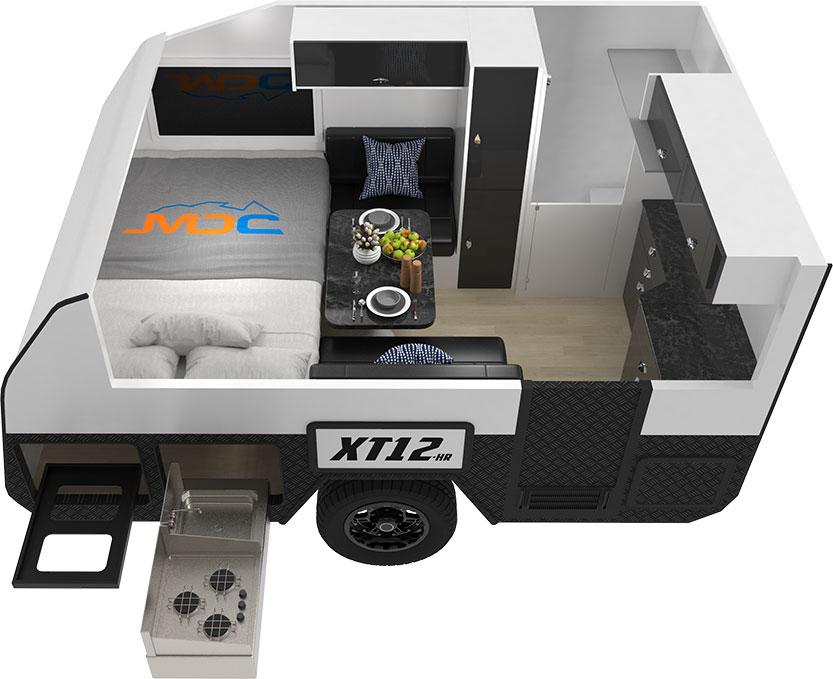 MDC XT12HR Offroad Caravan 3D Floorplan