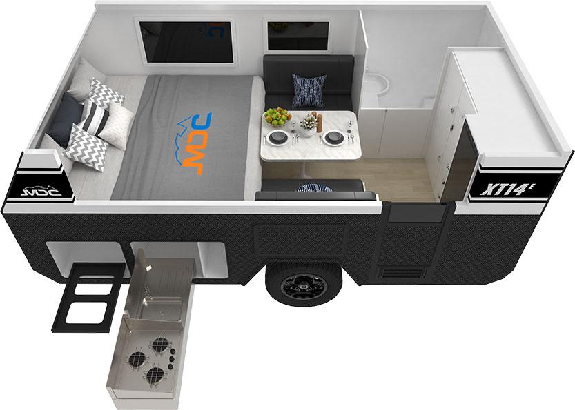 MDC XT14E Offroad Caravan 3D Floorplan