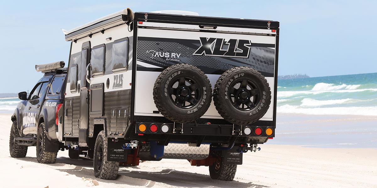AUSRV XL15 Offroad Caravan Bribie Island Beach 4x4 Driving