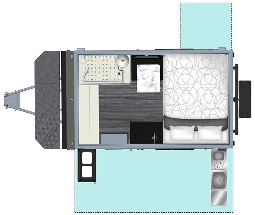 MDC XT12E Offroad Caravan 2D Floorplan