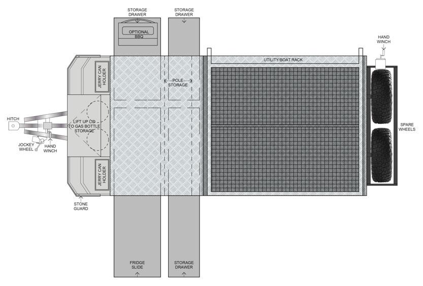 MDC AU Cruizer Slide offroad camper trailer 2D Floorplan