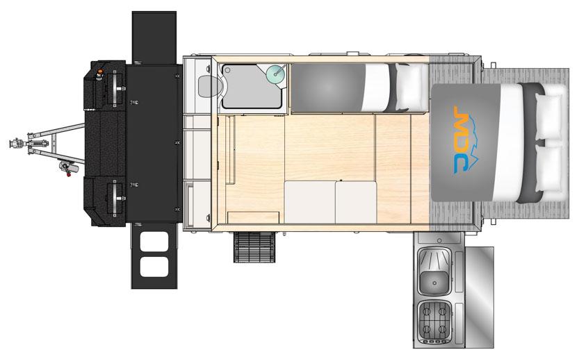 MDC AU Forbes 12 Plus Offroad caravan 2D Floorplan