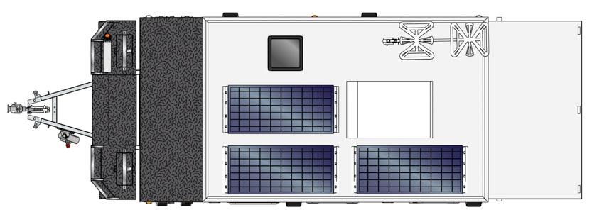 MDC AU Forbes 13 Offroad caravan 2D Floorplan