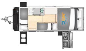 MDC AU Forbes 15 Plus Offroad caravan 2D Floorplan