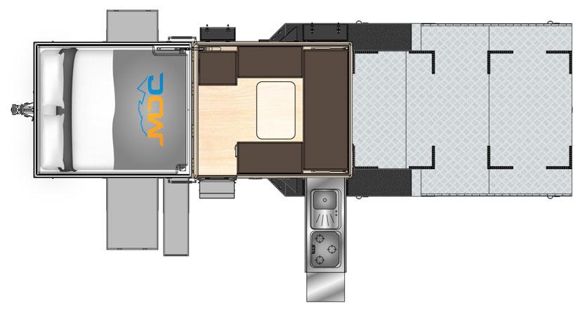 MDC AU XH7.4 offroad camper trailer 2D Floorplan