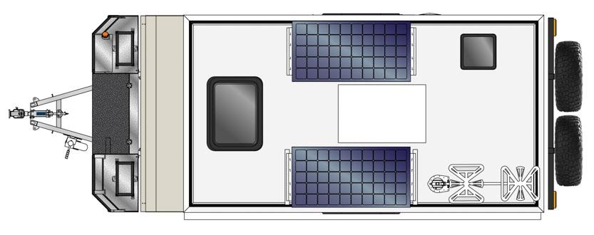MDC AU XT14E offroad caravan 2D Floorplan