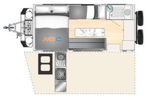 MDC AU XT16HR Family offroad caravan 2D Floorplan