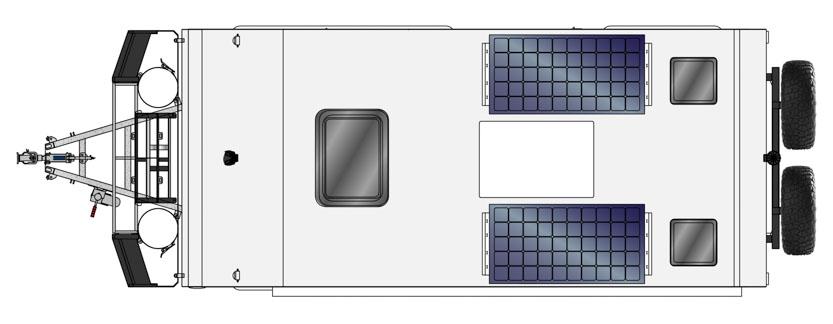 MDC AU XT16HR East West offroad caravan 2D Floorplan