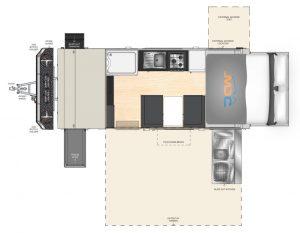 MDC AU XT17HRT offroad caravan 2D Floorplan
