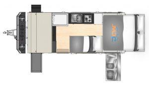 MDC AU XT17HRTDB offroad caravan 2D Floorplan