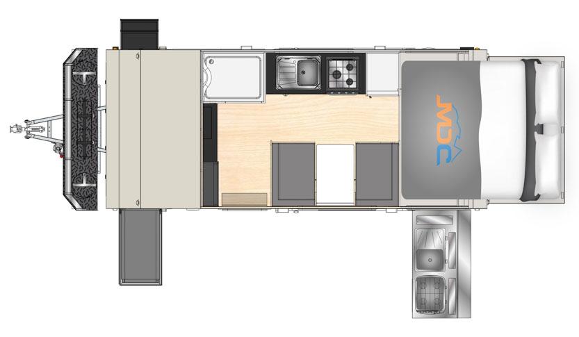 MDC AU XT17T offroad caravan 2D Floorplan