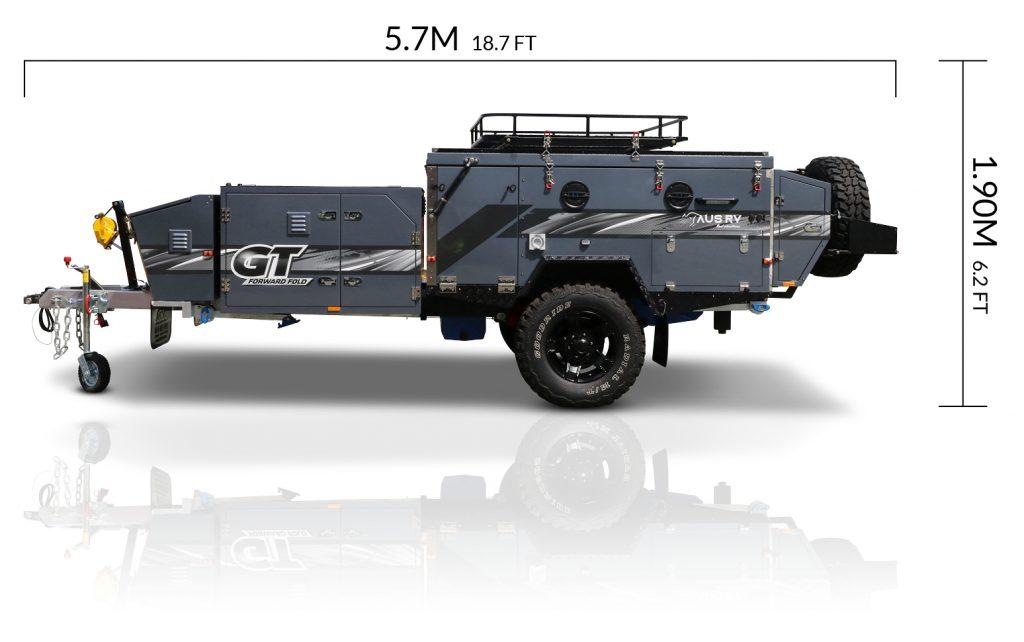 AUSRV AU GT offroad camper trailer dimensions