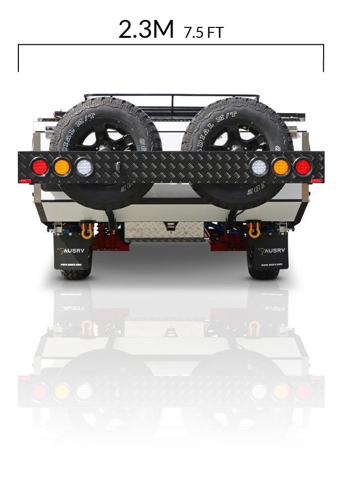 AUSRV AU LX offroad camper trailer dimensions