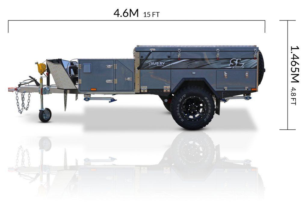 AUSRV AU Superlite offroad camper trailer dimensions