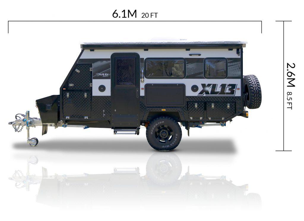 AUSRV AU XL13 offroad caravan dimensions