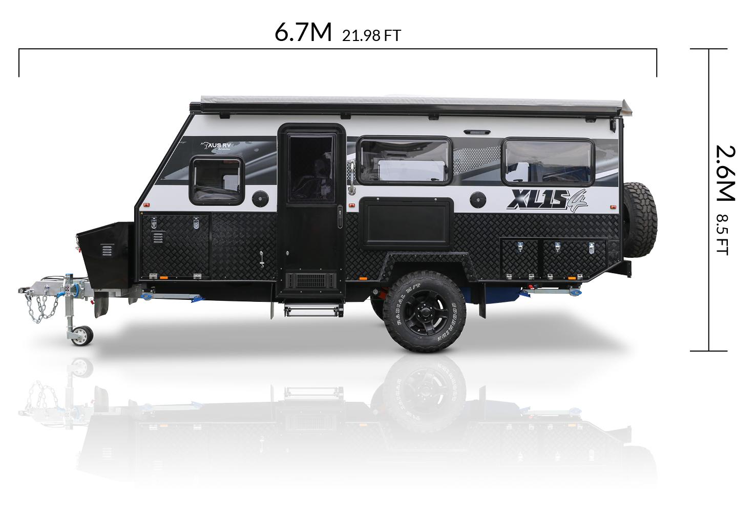 AUSRV AU XL15-4 offroad caravan dimensions