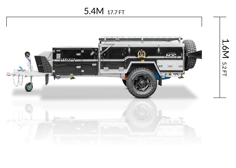 MDC AU Cruizer Highside offroad camper trailer dimensions