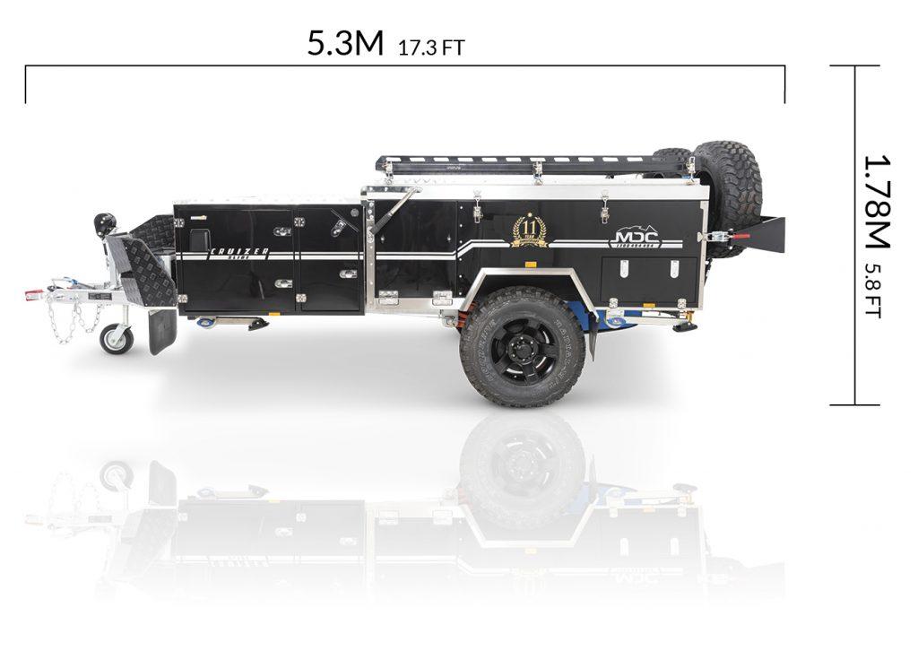 MDC AU Cruizer Slide offroad camper trailer dimensions