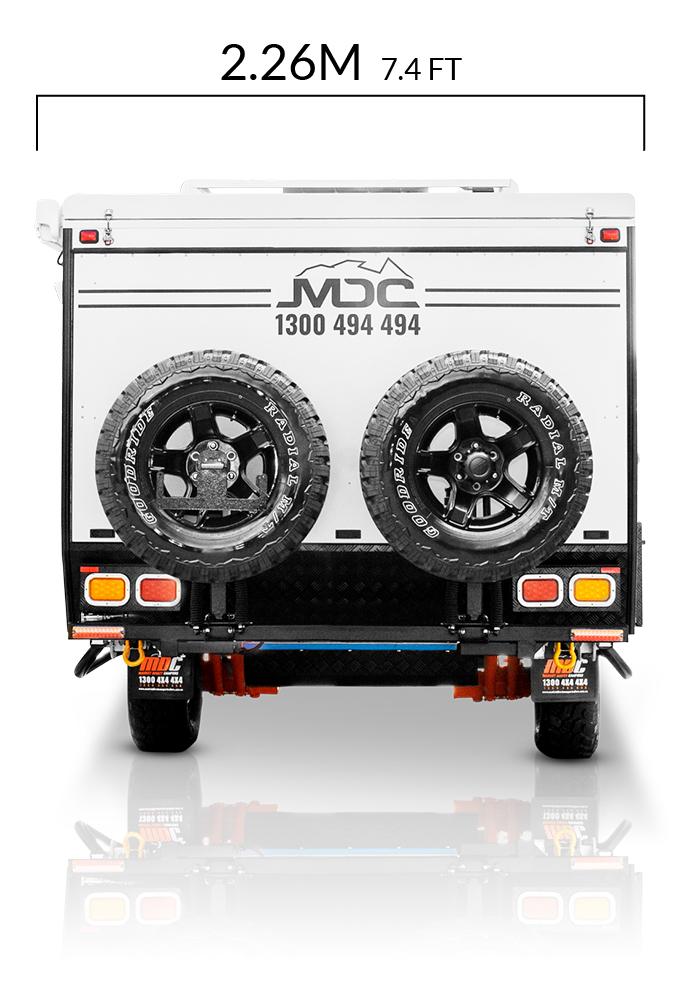 MDC AU Forbes 12 plus offroad caravan dimensions