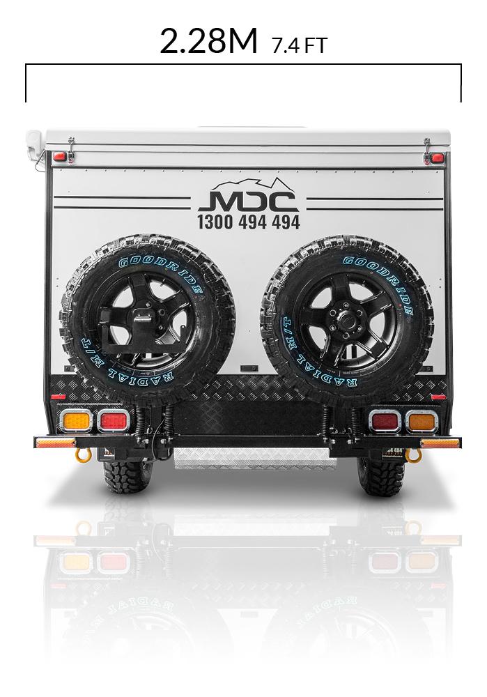 MDC AU Forbes 13 plus offroad caravan dimensions