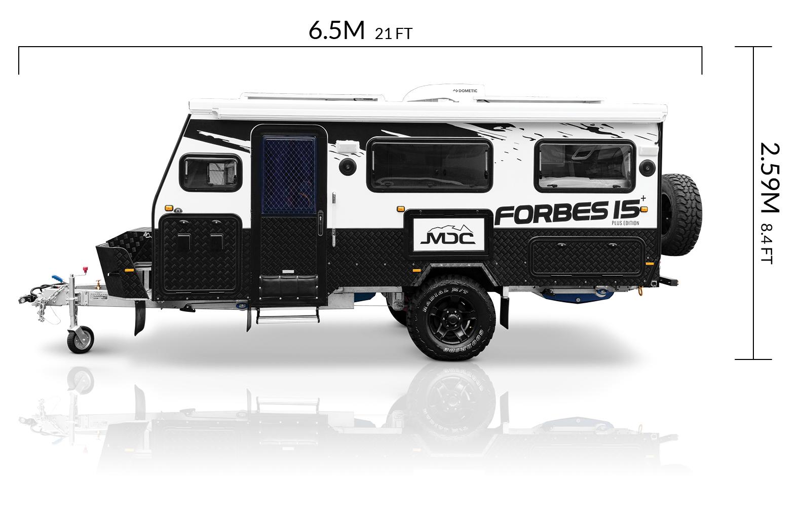 mdc au forbes15 plus offroad caravan dimensions
