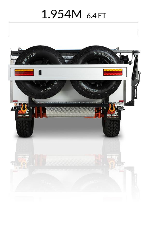 MDC AU Jackson Forward Fold offroad camper trailer dimensions