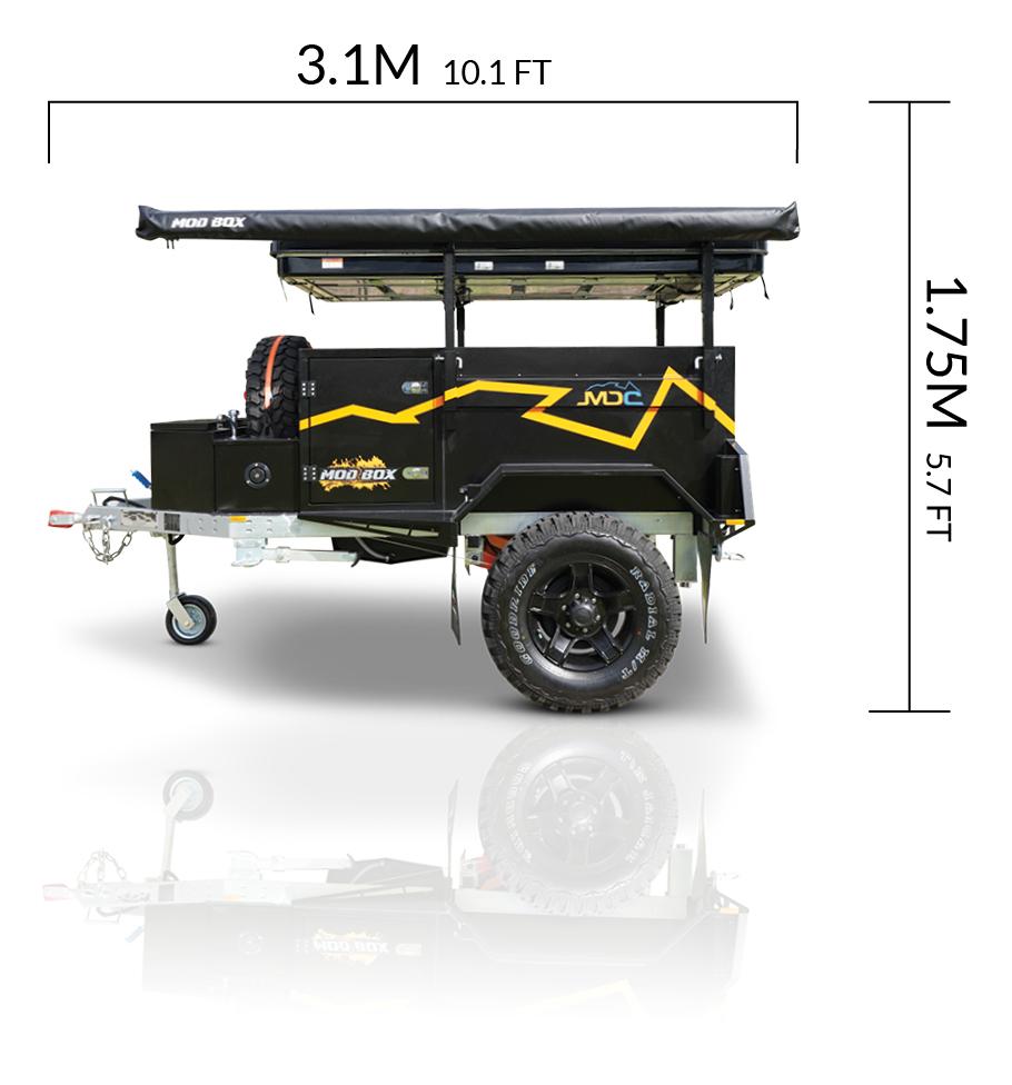 MDC AU Mod Box offroad camper trailer dimensions