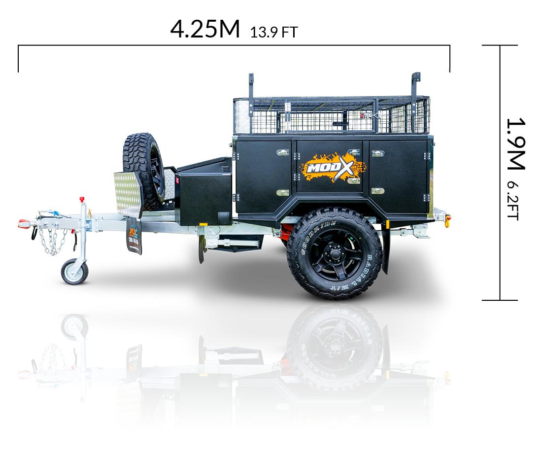 MDC AU ModX offroad camper trailer dimensions