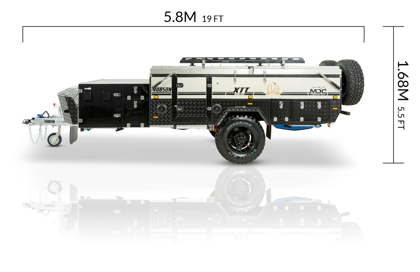 MDC AU Robson XTT offroad camper trailer dimensions