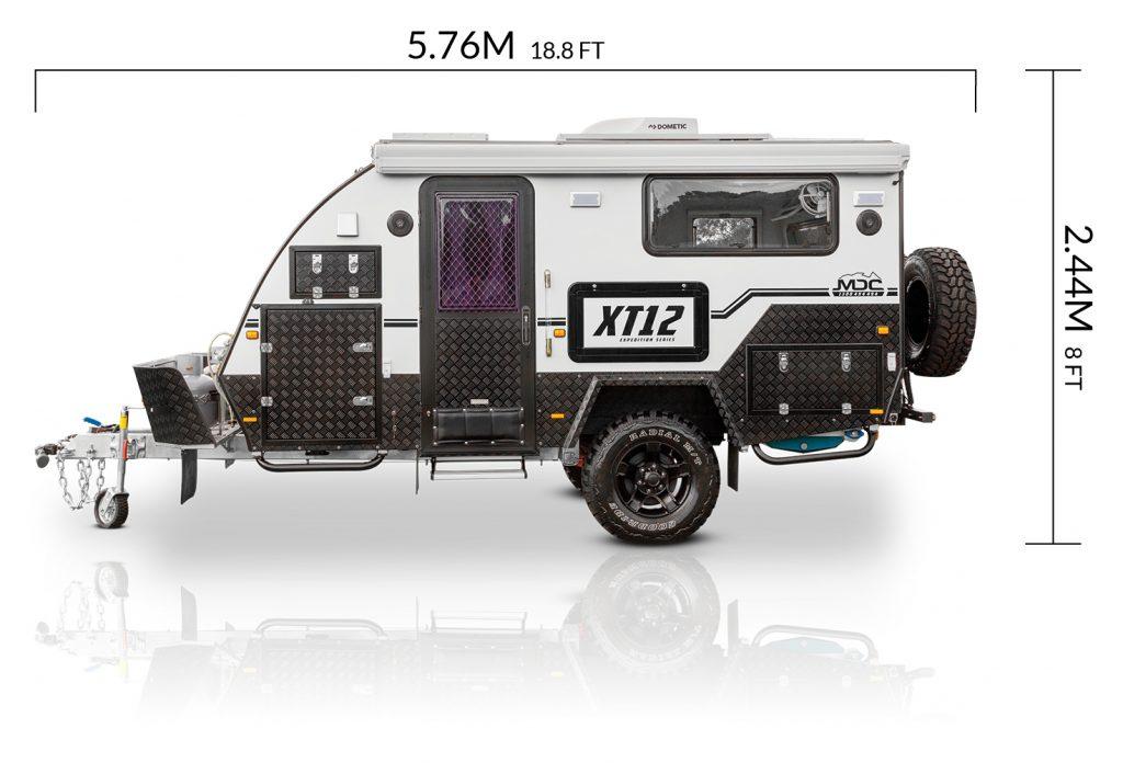 MDC AU XT12 offroad caravan dimensions