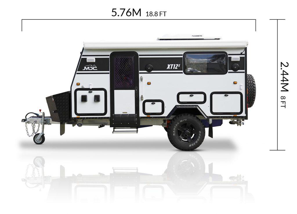 MDC AU XT12E offroad caravan dimensions