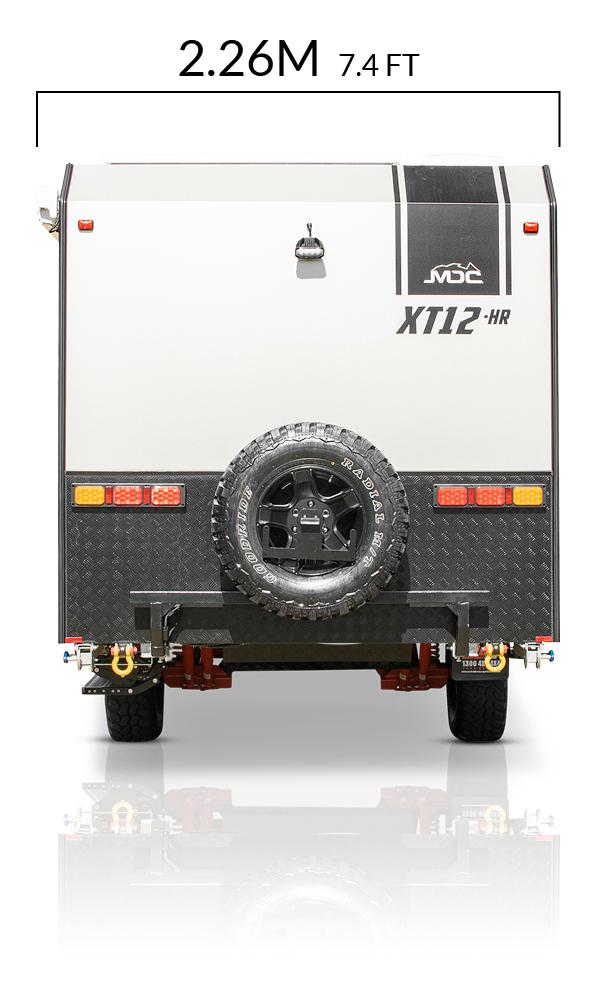 MDC AU XT12HR offroad caravan dimensions