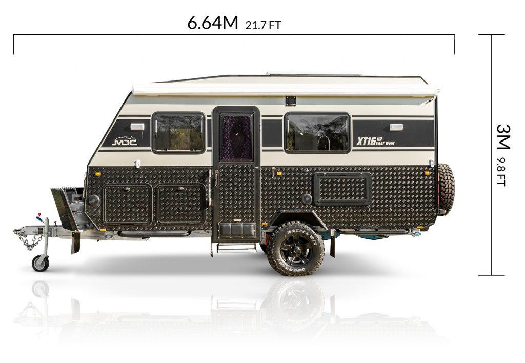 MDC AU XT16HR East West offroad caravan dimensions