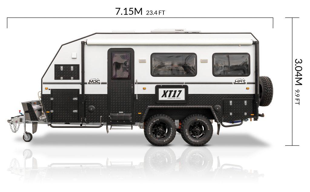 MDC AU XT17HRT offroad caravan dimensions