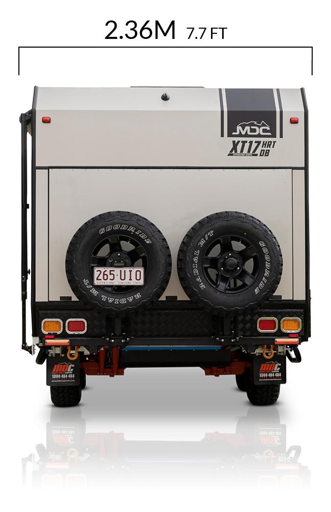 MDC AU XT17HRT double bunk offroad caravan dimensions