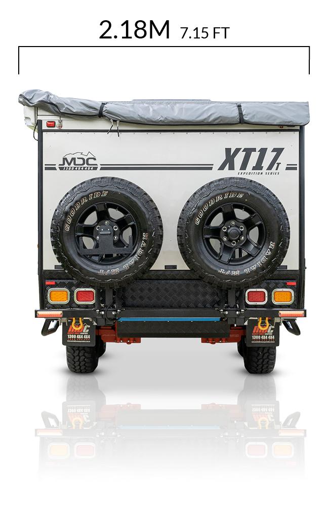 MDC AU XT17T offroad caravan dimensions